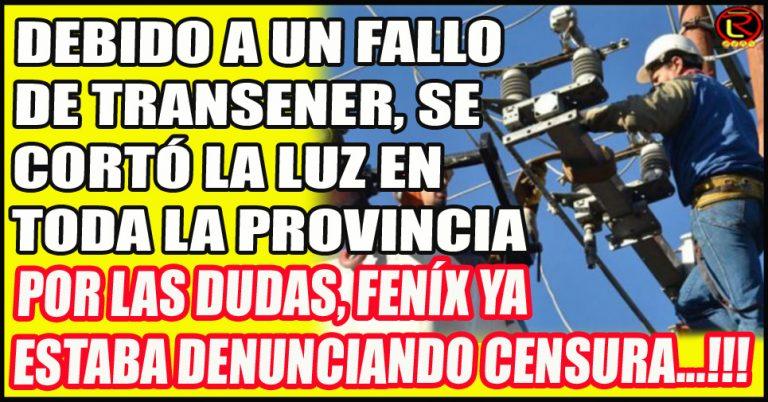 Falla en la estación transformadora de 500 kWh de Transener en la línea que une Recreo y La Rioja