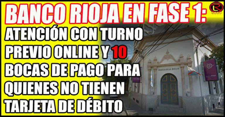 Informaron la atención del Banco Rioja durante el aislamiento