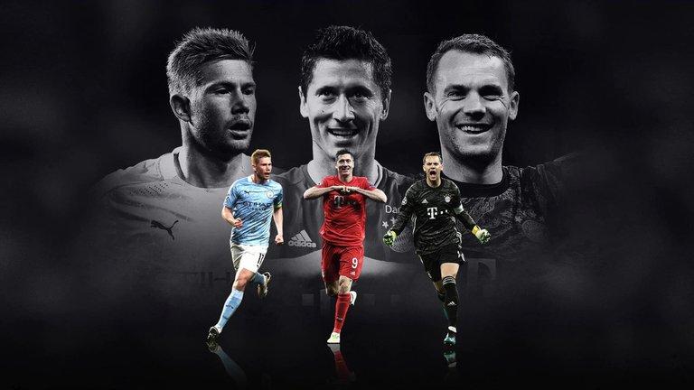 ¿Se terminó el reinado de Massi y Ronaldo? Lewandowski, De Bruyne y Neuer nominados por UEFA para el Jugados del Año