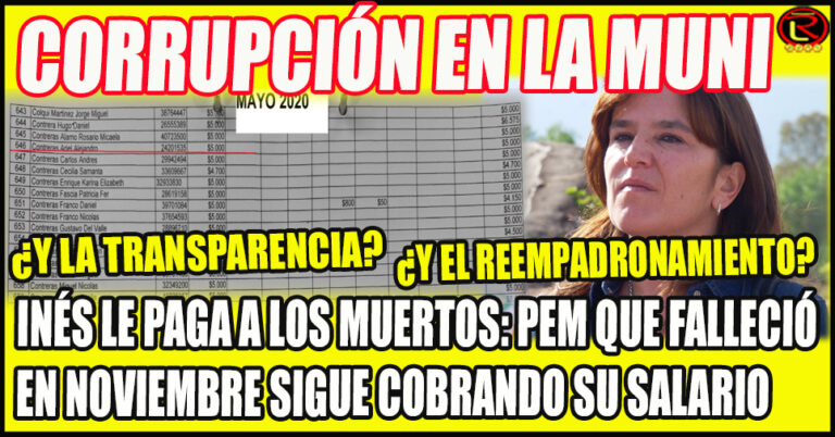 Alejandro Contreras murió el 20 de Noviembre del 2019 y se le pagó el sueldo al menos hasta Septiembre de este año