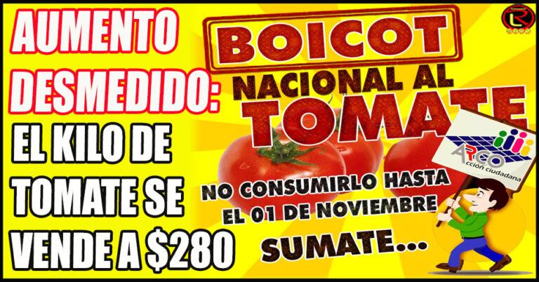 Proponen no consumir Tomate hasta el 1 de Noviembre