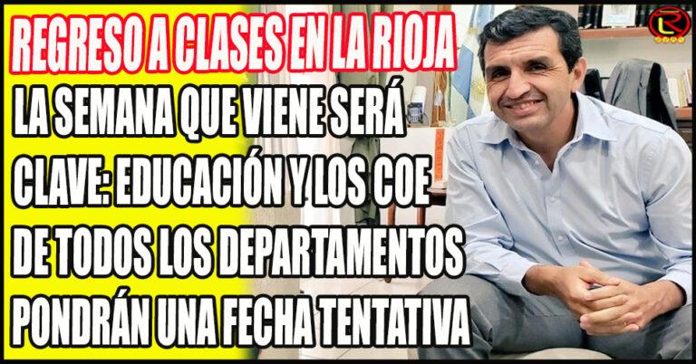 El Ministro de Educación Ariel Martínez aseguró que «por ahora siguen las clases virtuales»