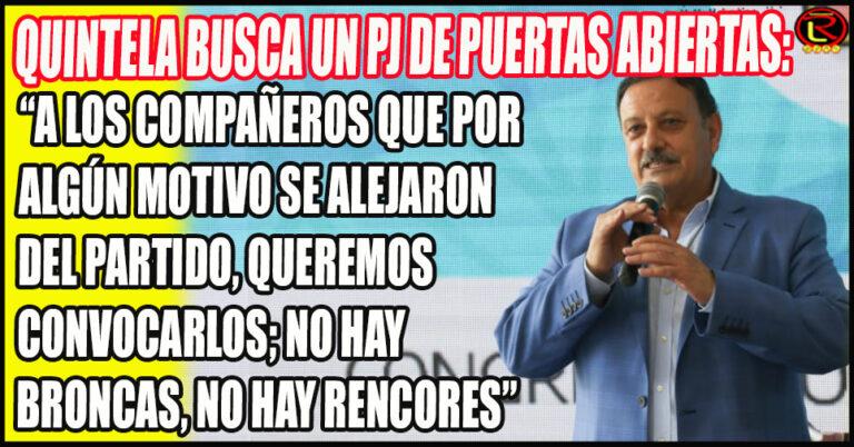 Las primeras palabras de Ricardo Quintela como Presidente del PJ