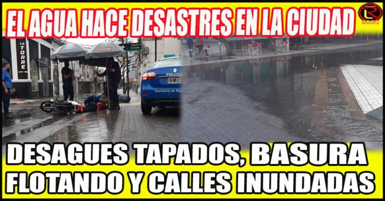 Las lluvias desnudan el estado de abandono de la Ciudad