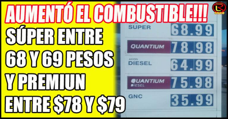 YPF vende la Nafta Súper a $68,40 y Axion a $68,99