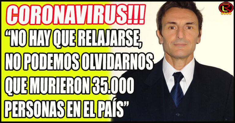 El neumonólogo Douglas Nazareno advirtió a los riojanos