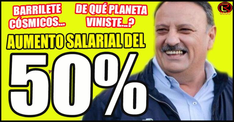 El Gobernador Ricardo Quintela anunció un histórico aumento salarial