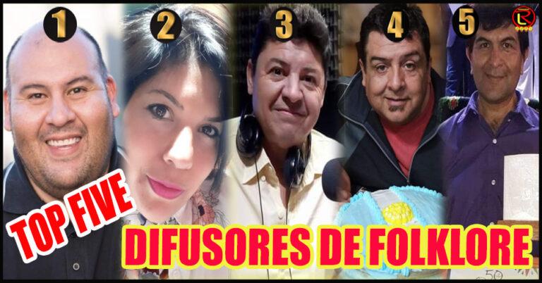 Los cinco 'altoparlantes' que tiene el Folklore riojano