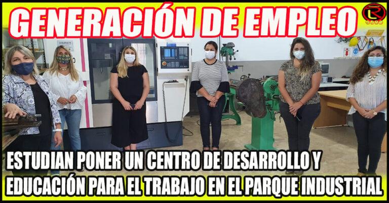 Calderón, Santángelo y Ortiz visitaron el Centro de Formación Profesional en Ezeiza