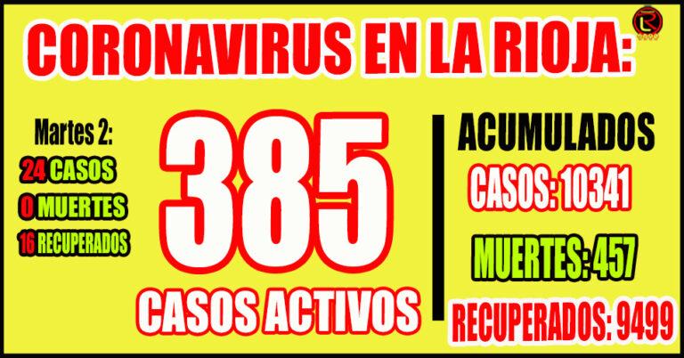 16 corresponden a Capital, 3 a Chamical, 3 a Chilecito, 1 a Rosario Vera Peñaloza y 1 a Arauco