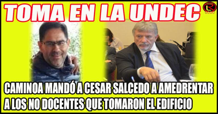 Caminoa y Salcedo, con la complicidad de Julio Martínez, llamaron a Gendarmería para que repirma a los tomistas