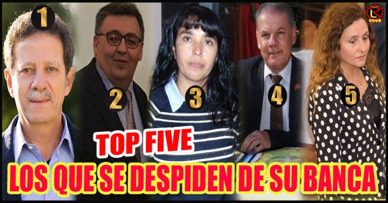 Cinco Diputados que quedarán desempleados en Diciembre
