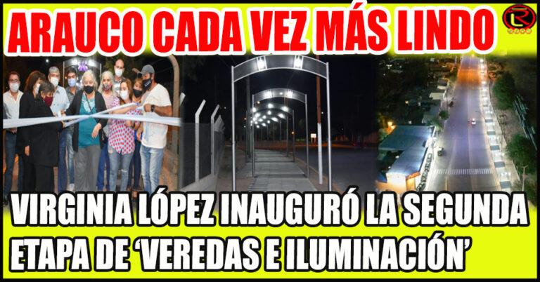 Más de 400 metros de veredas con arcos de Iluminación LED