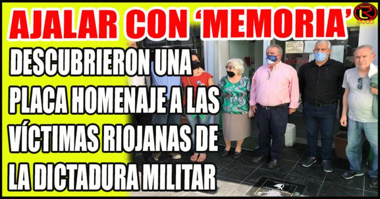 La Placa dice 'aquí vivieron Ana María y Cristina Lanzilloto, militantes populares'