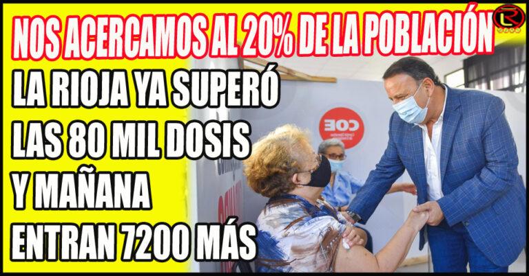 Con 350.000 habitantes, La Rioja ya tiene 89 mil vacunas
