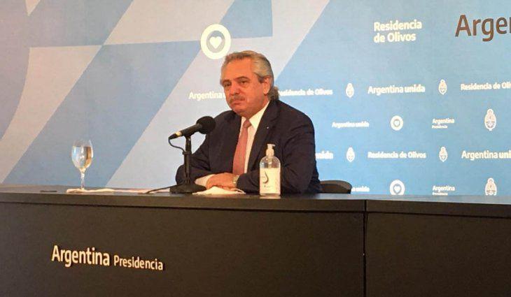 Alberto Fernández ratificó las medidas y no habrá clases presenciales en el AMBA