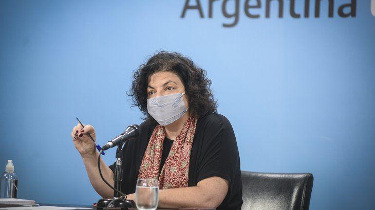 Vizzotti: «Argentina está en el peor momento de la pandemia»