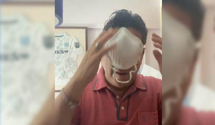 Cuidarse con humor: Sergio Gonal concientiza sobre el uso del barbijo
