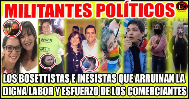 Néstor Bosetti e Inés Brizuela y Doria usan la Pandemia y los Comerciantes para posicionarse electoralmente