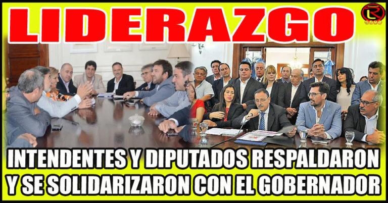 Fuerte apoyo del Bloque del PJ y los 17 Departamentos del Interior a Ricardo Quintela
