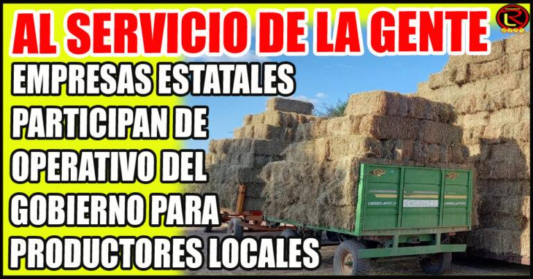 «A pedido del Gobernador, se decidió que Alfa confeccione el fardo y lo entregue a los camiones de Vialidad y Rioja Vial»