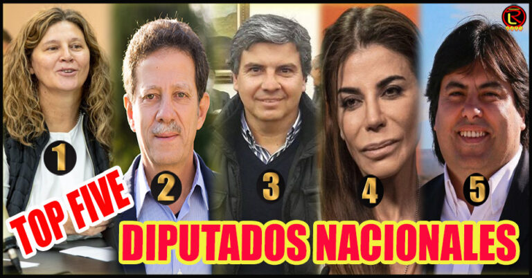 Gabriela Pedrali, Julio Sahad, Juan Amado, Zulemita Menem y Danilo Flores