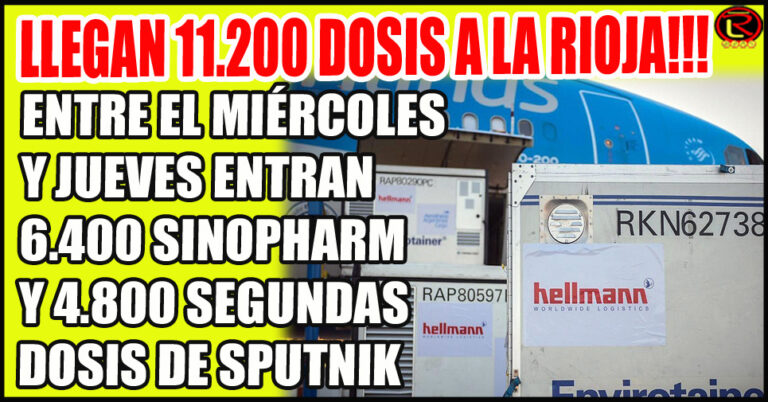Se distribuirán 550 mil Sputnik componente 2 y 768 mil Sinopharm en todo el país