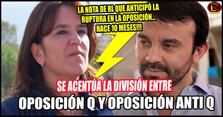 La oposición tendrá 2 candidatos: uno macrista y anti Q (Sahad-Felipe) y otro en 'la avenida del medio' (Amado-Inés)