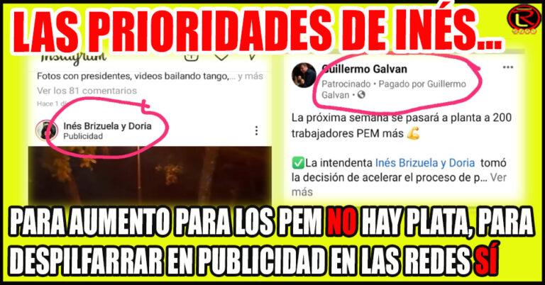 La Intendenta gasta la plata de los PEM en publicidad en Facebook e Instagram