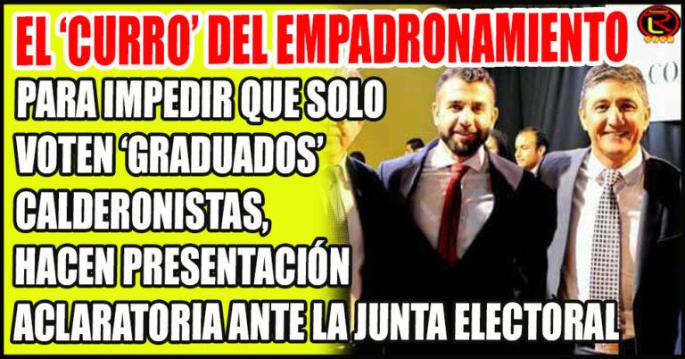 La curiosa Democracia de Calderón: 'que solo voten los nuestros»
