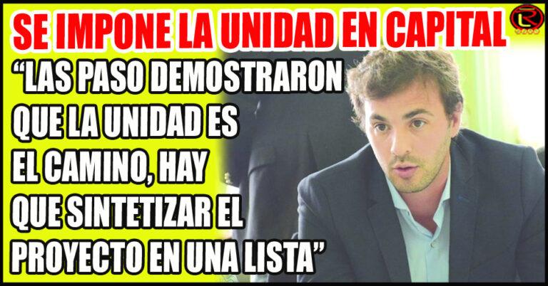 Juanqui Santender se pronunció a favor de una sola Lista en Capital