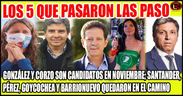 Gabriela Pedrali, Juan Amado, Julio Sahad, María José González y Cristian Corzo