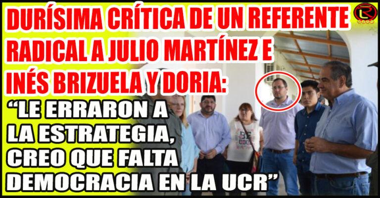 El ex concejal chileciteño responsabilizó a Julio e Inés por la aplastante derrota en las PASO
