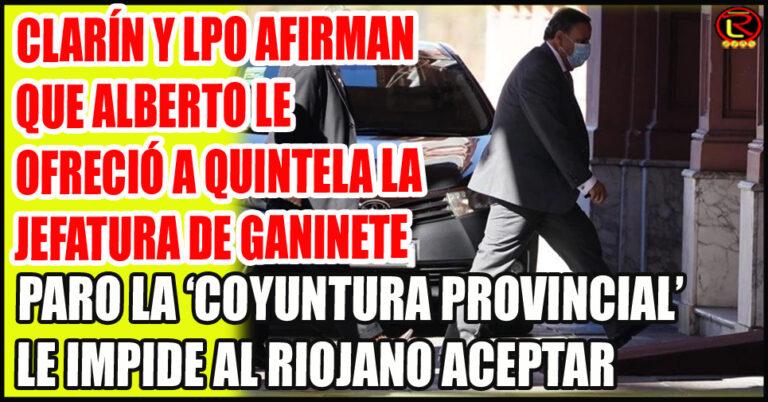 El Gobernador riojano fue recibido esta tarde por el Presidente en Casa Rosada