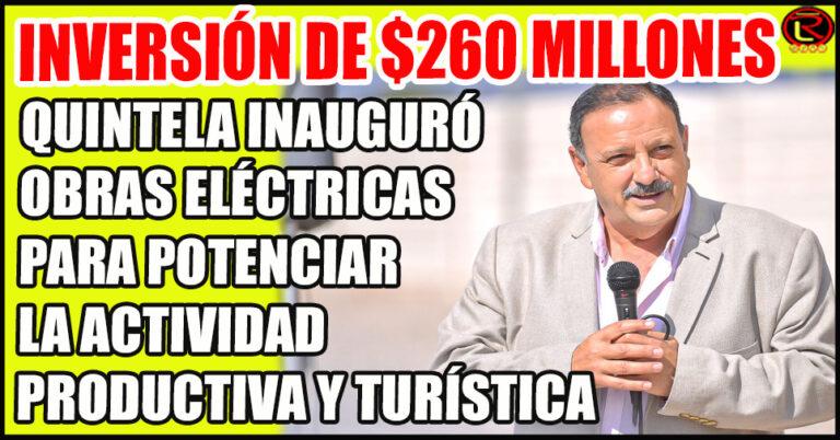Lo acompañó el Secretario de Energía de la Nación, Darío Martínez