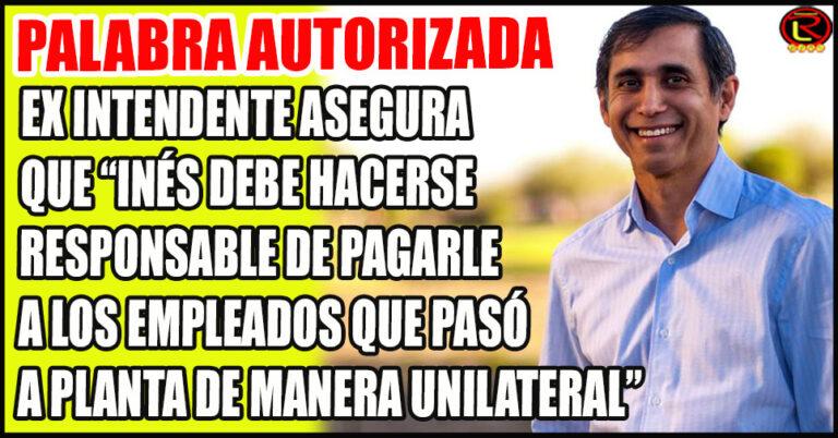 """Paredes Urquiza: """"la provincia sólo tiene obligación de salarios de municipales nombrados hasta el 31 de diciembre de 2014"""""""